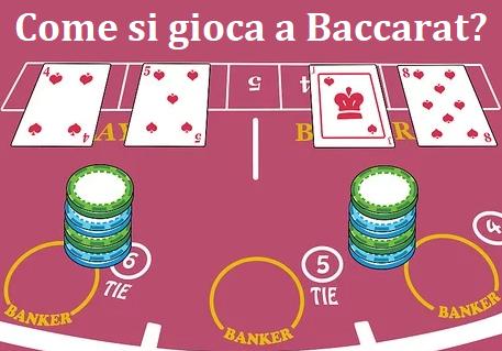 Come si gioca a Baccarat?